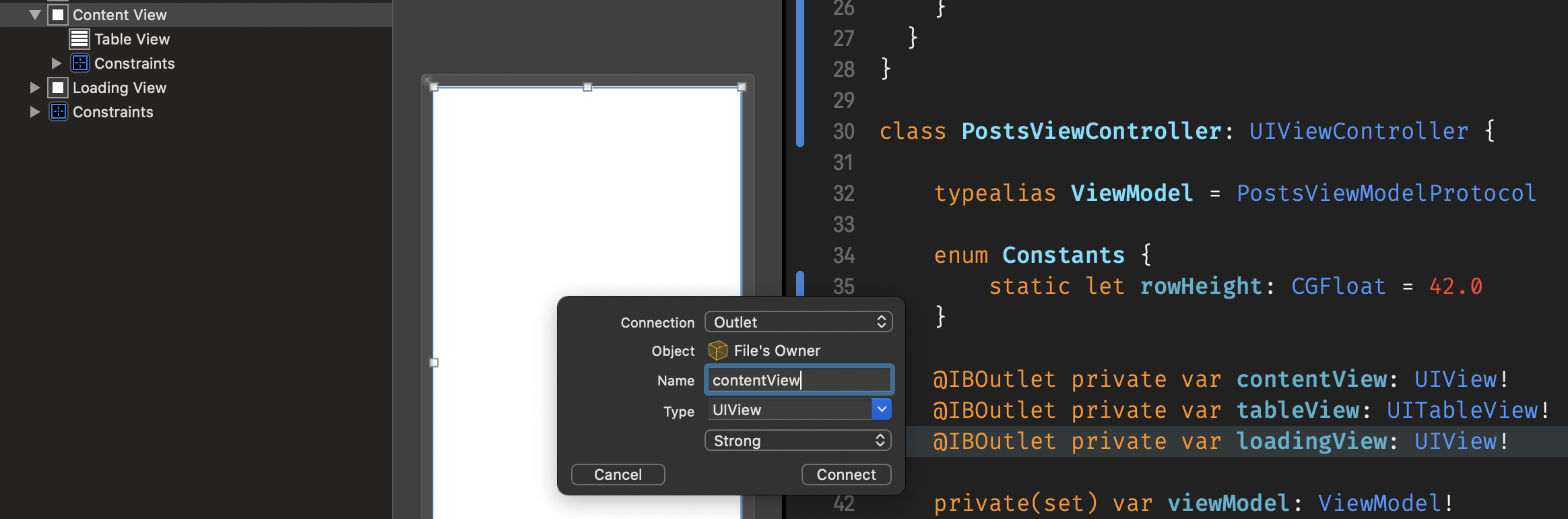 IBOutlets in Xcode